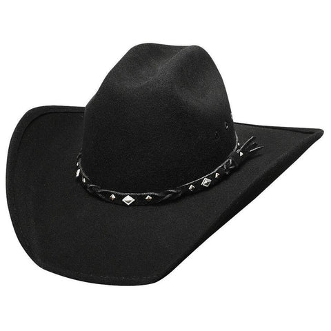 Bullhide Country Heritage Black  Wool Cowboy Hat - Hat-A-Tack