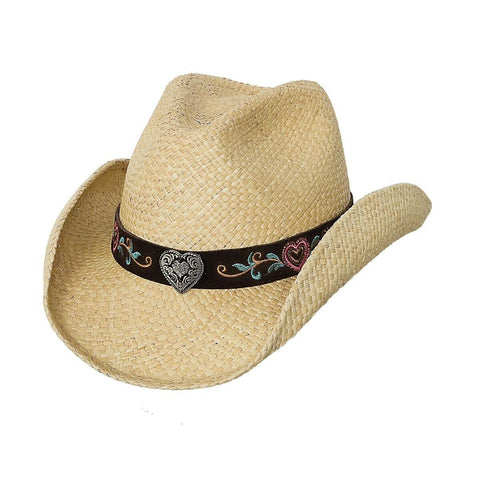 Bullhide Crazy For You Natural Straw Childrens Cowgirl Hat -Hat-A-Tack