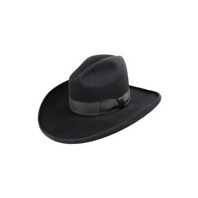 Bailey Clayton 4X Black Wool Cowboy Hat - Hat - A - Tack