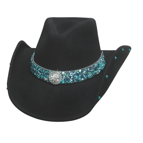 Bullhide Dancin' Crazy Black Wool Cowgirl Hat - Hat - A - Tack