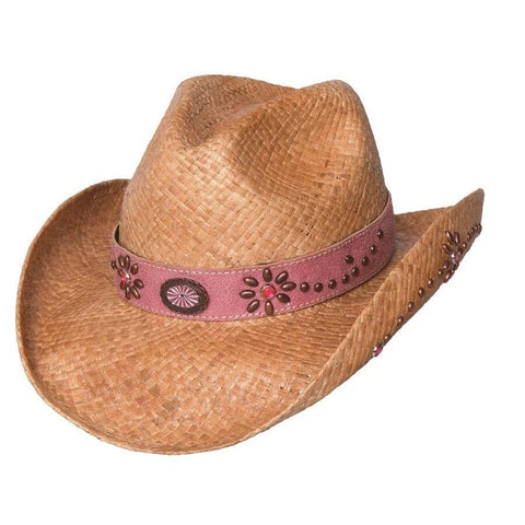 Bullhide Daughter Of The West Natural Straw Children  Cowgirl Hat - Hat - A - Tack