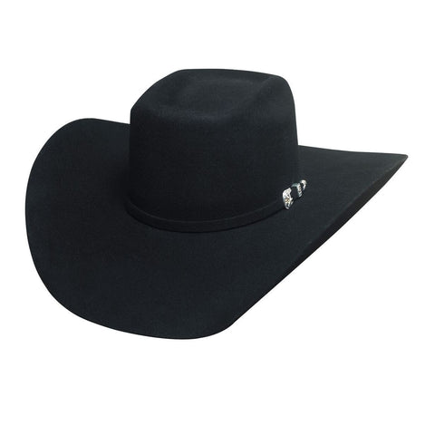 Bullhide Double Kicker 8X Black Fur Cowboy Hat - Hat - A - Tack