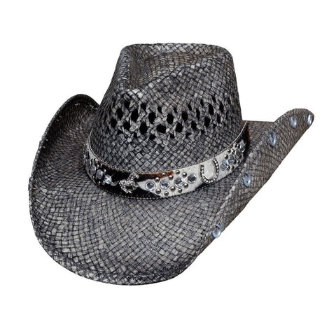 Bullhide Facing Fears Grey  Straw Cowgirl Hat - Hat-A-Tack