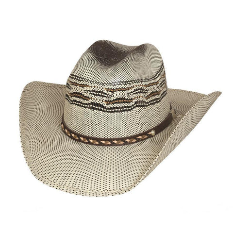 Bullhide Heeler Natural/Brown Straw Childrens Hat - Hat-A-Tack