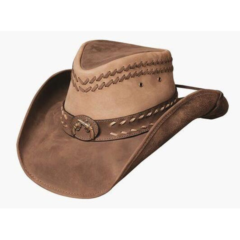 Bullhide Hideout Camel/Brown Leather Outback Hat - Hat-A-Tack