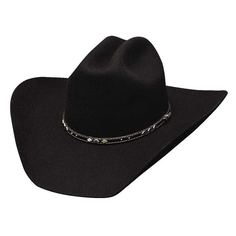 Bullhide High Noon 7X Black Wool Cowboy Hat - Hat - A - Tack