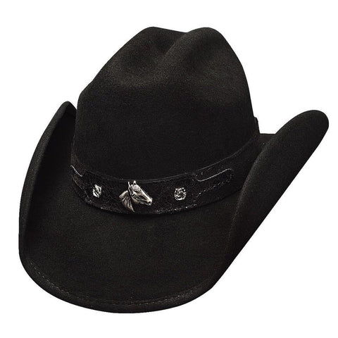Bullhide Horsing Around Wool Childrens Black Hat - Hat-A-Tack