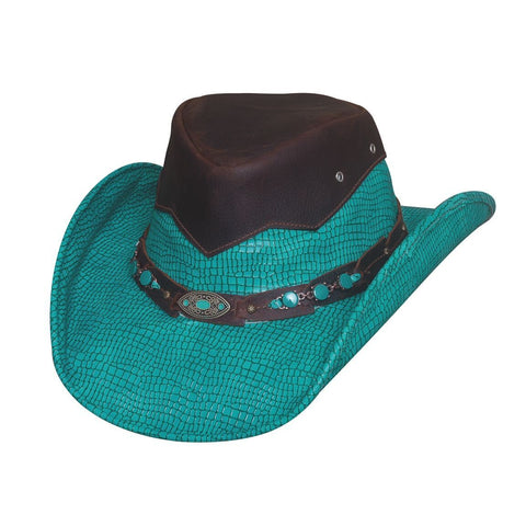 c883862c3ef Bullhide Jealous Turquoise Leather Outback Hat - Hat - A - Tack