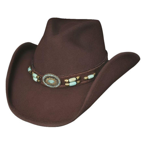 Bullhide Jewel Of The West Chocolate Wool Cowboy Hat - Hat - A - Tack