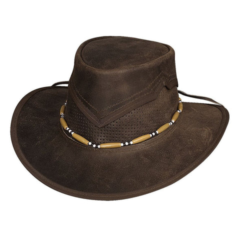 Bullhide Kanosh Dark Brown Leather Outdoor Hat - Hat - A - Tack