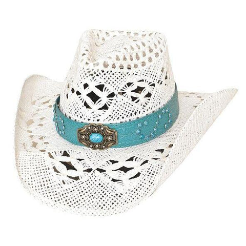 Bullhide Keepin' It Real White Straw Cowgirl Hat - Hat - A - Tack