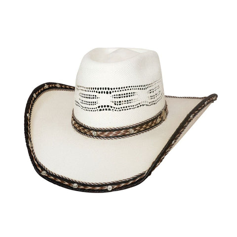 Bullhide Leather Neck 20X Natural Straw Cowboy Hat - Hat - A - Tack