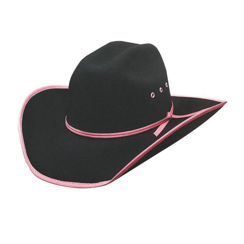 Bullhide Leave Your Mark Black/Pink Wool Childrens Hat - Hat - A - Tack