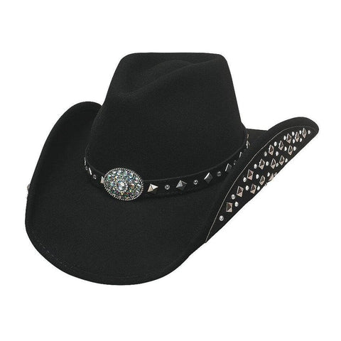 Bullhide Let's Get Loud Black Wool Cowgirl Hat - Hat - A - Tack