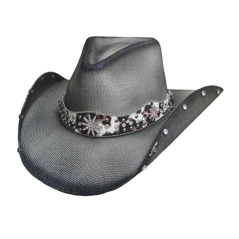 Bullhide Lighting Strike Grey Straw Cowgirl Hat - Hat - A - Tack