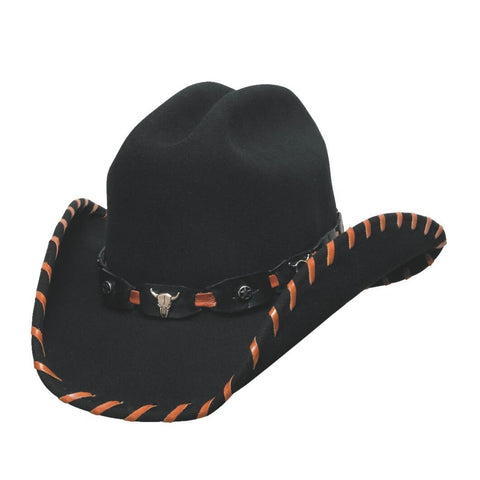 BBullhide Little Maverick Black Childrens Wool Cowboy Hat -Hat - A - Hat