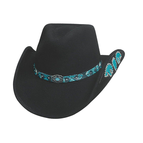 Bullhide Loving You Easy Black Childrens Wool Cowgirl Hat - Hat - A - Tack