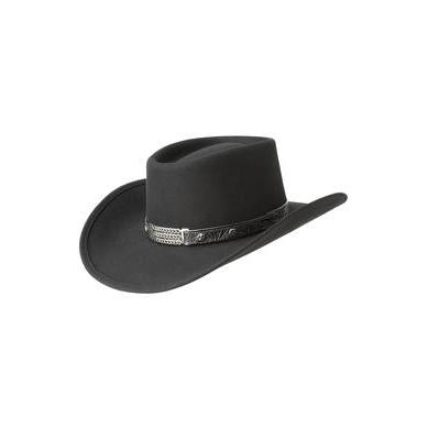 Eddy Bros. Little Joe Black Wool Felt Gambler Hat - Hat - A - Tack
