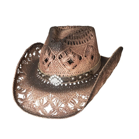 Bullhide Magnificent Tan Straw Cowgirl Hat - Hat - A - Tack