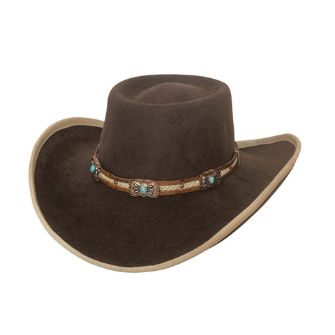 Bullhide Mind Reader Chocolate  Wool Cowboy Hat - Hat - A - Tack