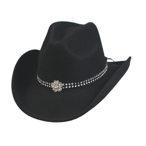 Bullhide Mine Black Wool Childrens Cowgirl Hat - Hat - A - Tack