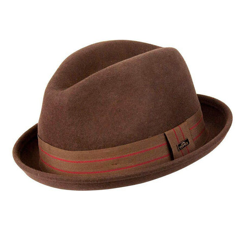 Conner Hats Merlo Kicker Wool Brown Fedora - Hat-A-Tack