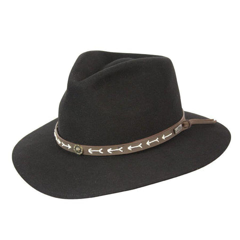 Conner Hats Mt. Warning Black Wool Hat - Hat-A-Tack