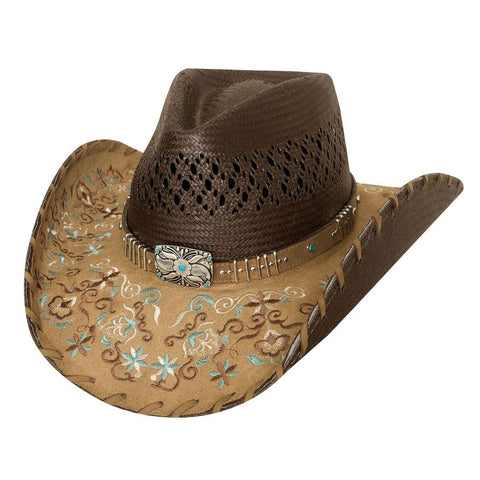 Bullhide Never Give Up Brown Straw Cowgirl Hat - Hat - A - Tack