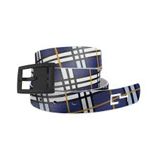 C4 Belts Navy Plaid with Blue Buckle