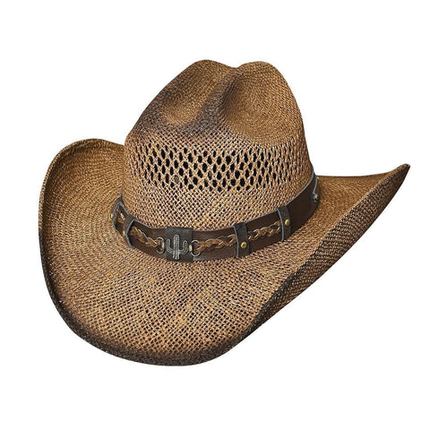 Bullhide Out Of The Range Pecan Straw Cowboy Hat - Hat - A - Tack