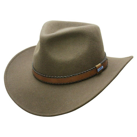 Conner Hats Outback Creek Crushable Loden Wool Hat - Hat-A-Tack