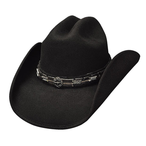 Bullhide Pass The Buck Black Wool Cowboy Hat - Hat - A - Tack