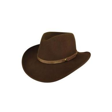 Bailey Prospector Brown Litefelt Wool Hat - Hat - A - Tack