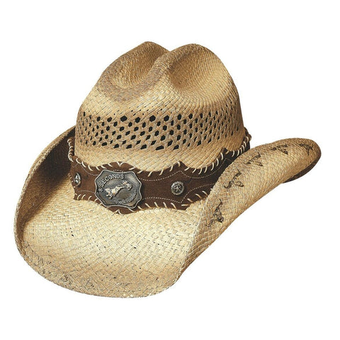 Bullhide Ride 'Em Natural Straw Cowgirl Hat - Hat - A - Tack