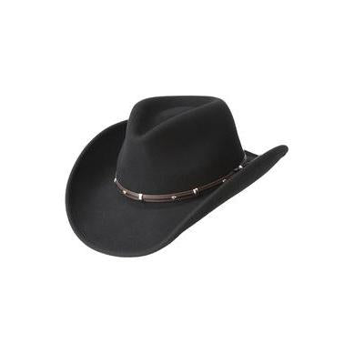 Bailey Rider Black LiteFelt Soft Wool Hat - Hat - A - Tack