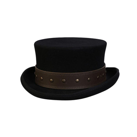 Conner Hats Rocky Road Black Steampunk Hat- Hat-A-Tack