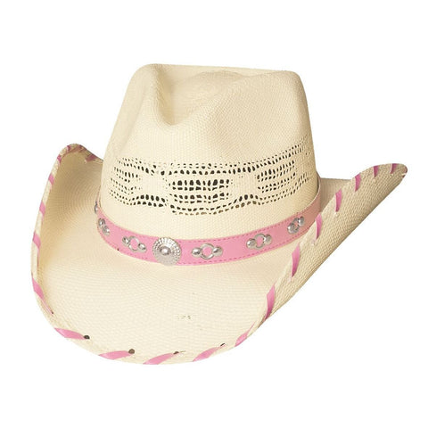 Bullhide Shine A Little Love Natural Straw Childrens Cowgirl Hat - Hat - A - Tack