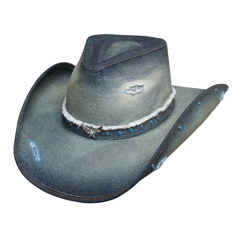 Bullhide Silver Wings Denim Cowgirl Hat - Hat - A - Tack