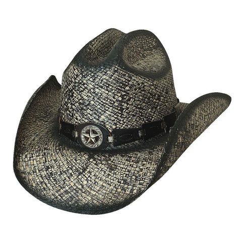 Bullhide Star Central Black Straw Cowboy Hat - Hat - A - Tack