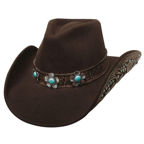 Bullhide Sweet Emotion Chocolate  Wool Cowgirl Hat - Hat - A - Tack