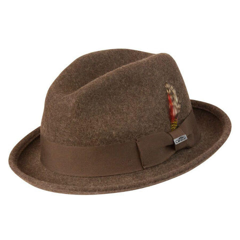 Conner Hats Soho Wool Brown Fedora - Hat-A-Tack