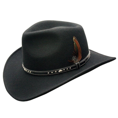 Conner Hats Star Rider Waterproof  Black Wool Hat - Hat-A-Tack