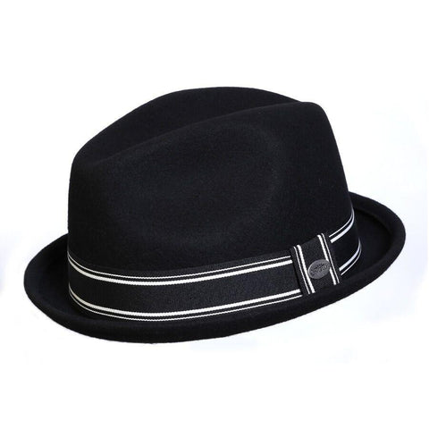 Conner Hats Street Car Black Wool Fedora - Hat-A-Tack