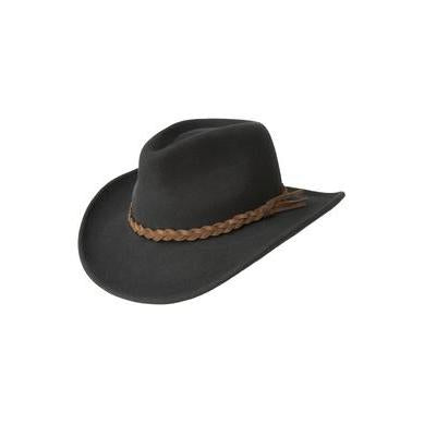 Bailey Switchback Black LiteFelt Soft Wool Hat - Hat - A - Tack