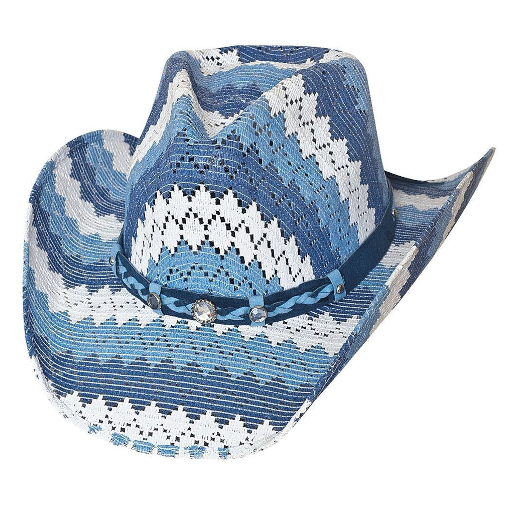 e002adc11abe7 Bullhide Teenage Dream Blue Childrens Straw Cowgirl Hat - Hat - A -Tack
