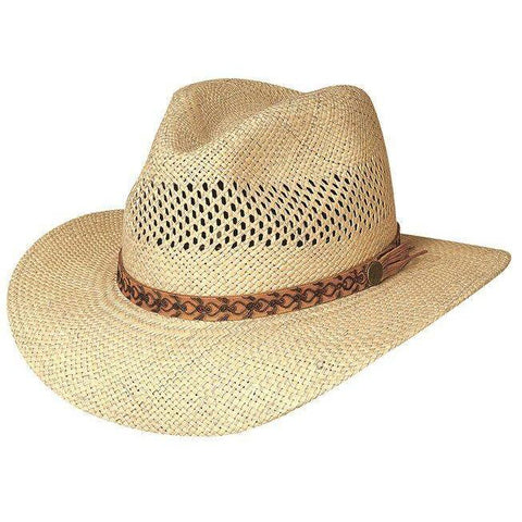 Bullhide Tropical Breeze Natural Straw Fedora Hat - Hat - A - Tack