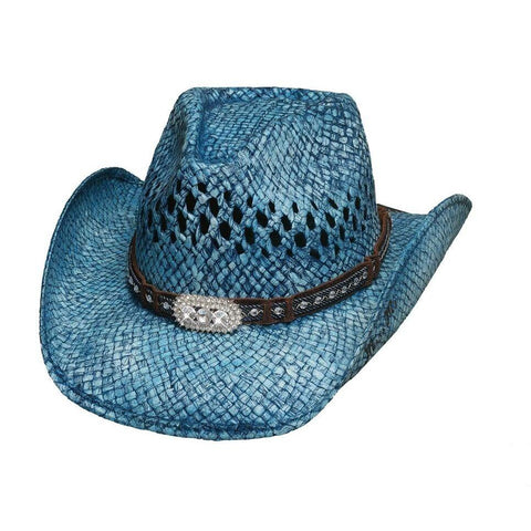 Bullhide Wild And Blue Blue Straw Cowgirl Hat - Hat - A - Tack