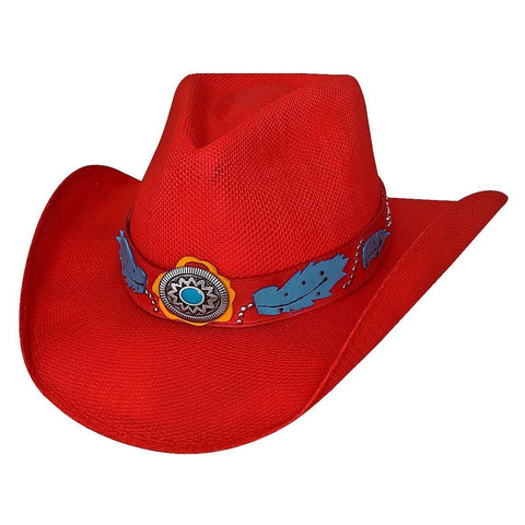 Bullhide Wild One Red Straw Cowgirl Hat - Hat - A - Tack