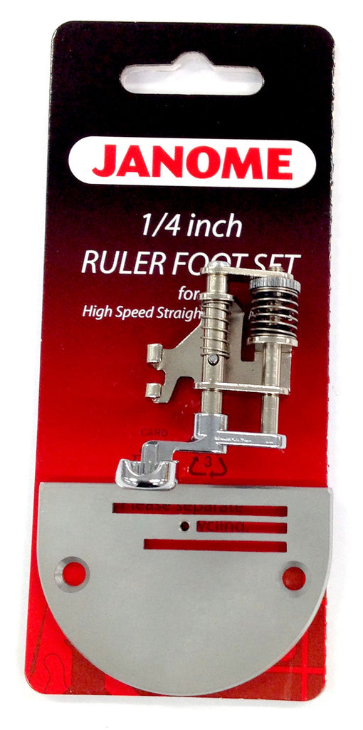 "¼"" Ruler Foot Set (Including Darning Plate)"