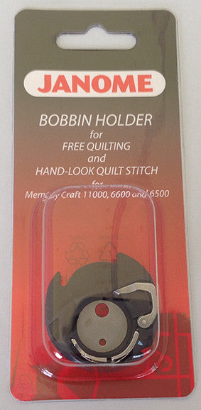 Special Bobbin Holder for Free-Motion Quilting